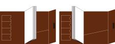 レザータイプ(横型・フタ付)展開図