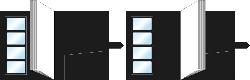 高級レザータイプ(縦型・フタ無し・内袋追加式)展開図