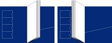 レザーコンパクトタイプ(2つ折り)展開図