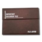【オリジナル契約書ファイル】レザータイプ(3つ折り)オリジナルレザータイプ(横型・フタ付)