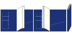 オリジナルレザータイプ(2つ折り・背表紙付き)展開図